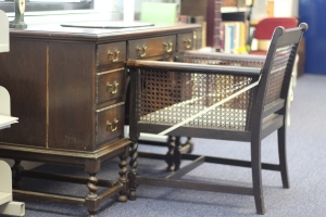 Richmal Crompton's desk (University of Roehampton, Archives and Special Collections)